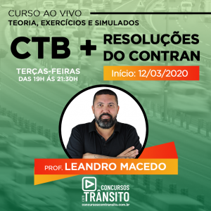 CTB + Resoluções do Contran Ao vivo | 101170  - com Leandro Macedo